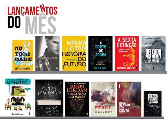 Lançamento de Livros - Agosto / Editora Intrínseca