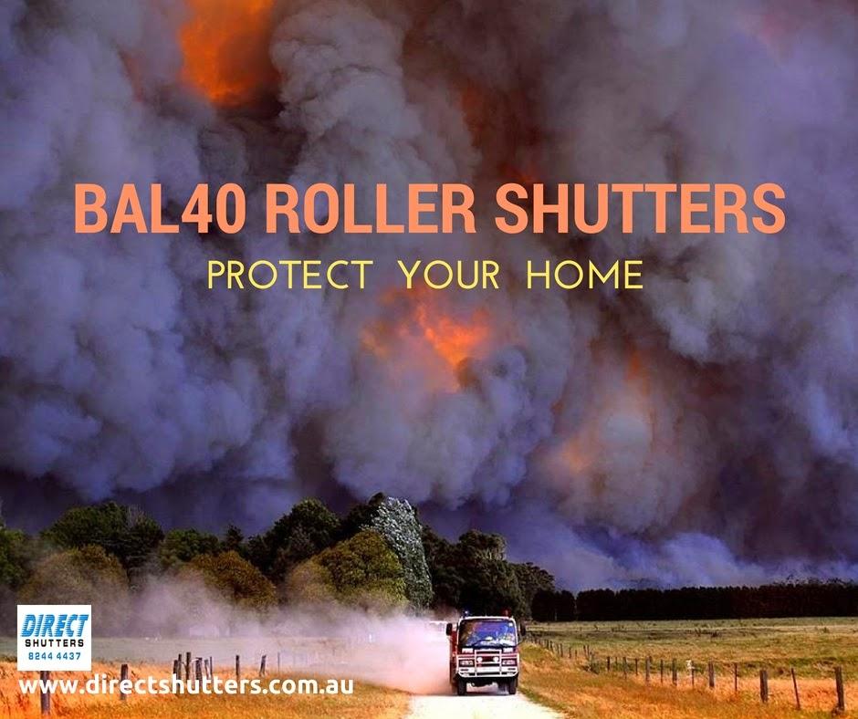 BAL40 bushfire-reistant roller shutters