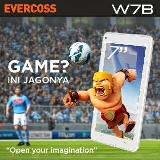 Tablet Murah Evercoss 500 ribuan - Evercoss W7B Quadcore