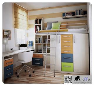 cách tiết kiệm không gian phòng ngủ