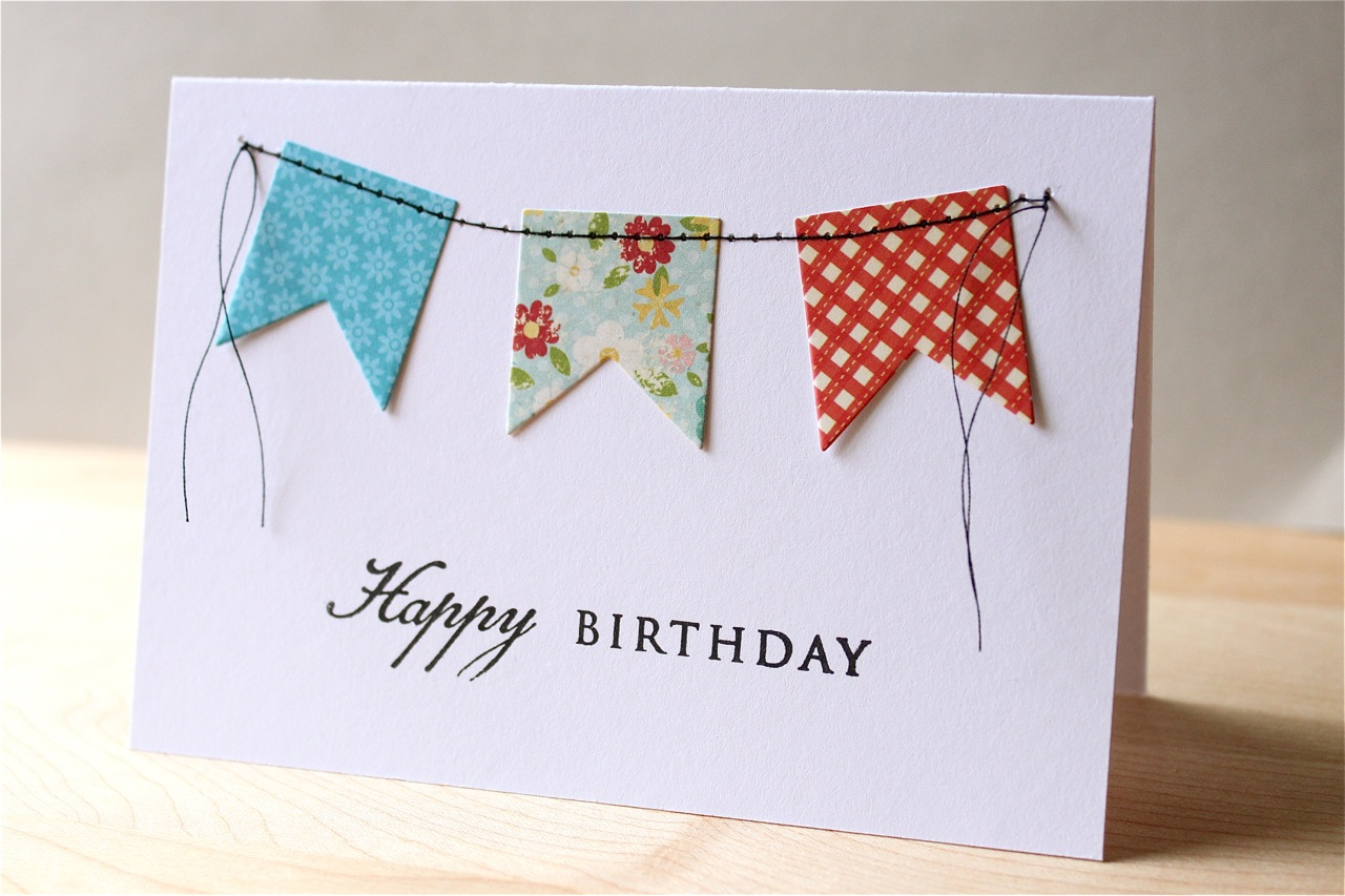 The Apple Crate Stitched Banner Birthday Cards