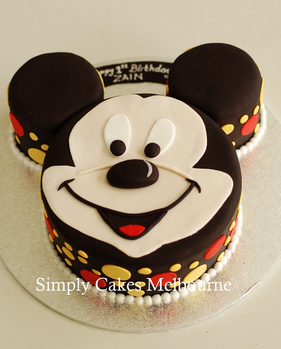 Pictures Of Mickey Mouse Face Cakes : Simply Cakes Melbourne: Number 1 Cake and Mickey mouse ...