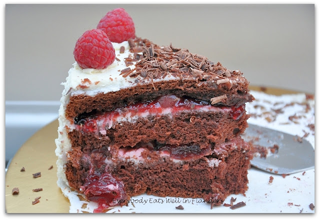 Everybody Eats Well in Flanders: German Black Forest Cake ...