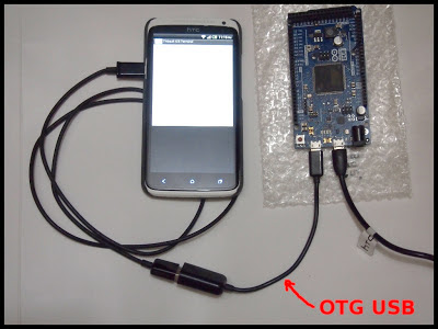 Connect Arduino Due and Android device with OTG USB Cable
