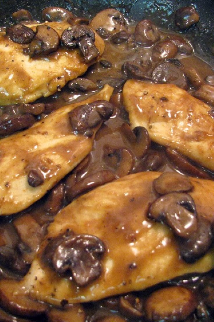 ... sauteed with the mushrooms) and fresh rosemary. I serve it with Penne