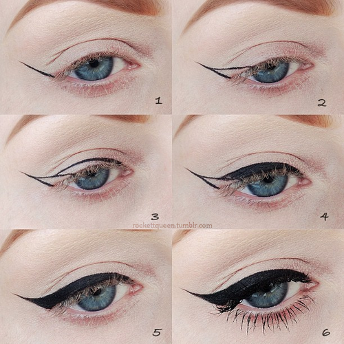 Wedding Makeup Winged Eyeliner : Beautiful Double Winged Out Eye Liner Cat Eye Makeup ...