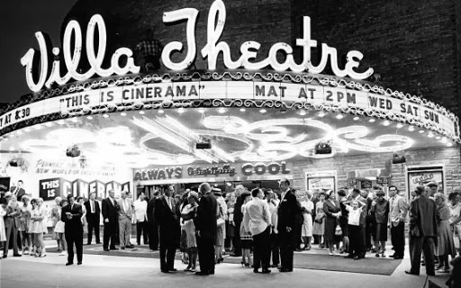 cute old vintage movie theater photo - villa theatre salt lake city 1949