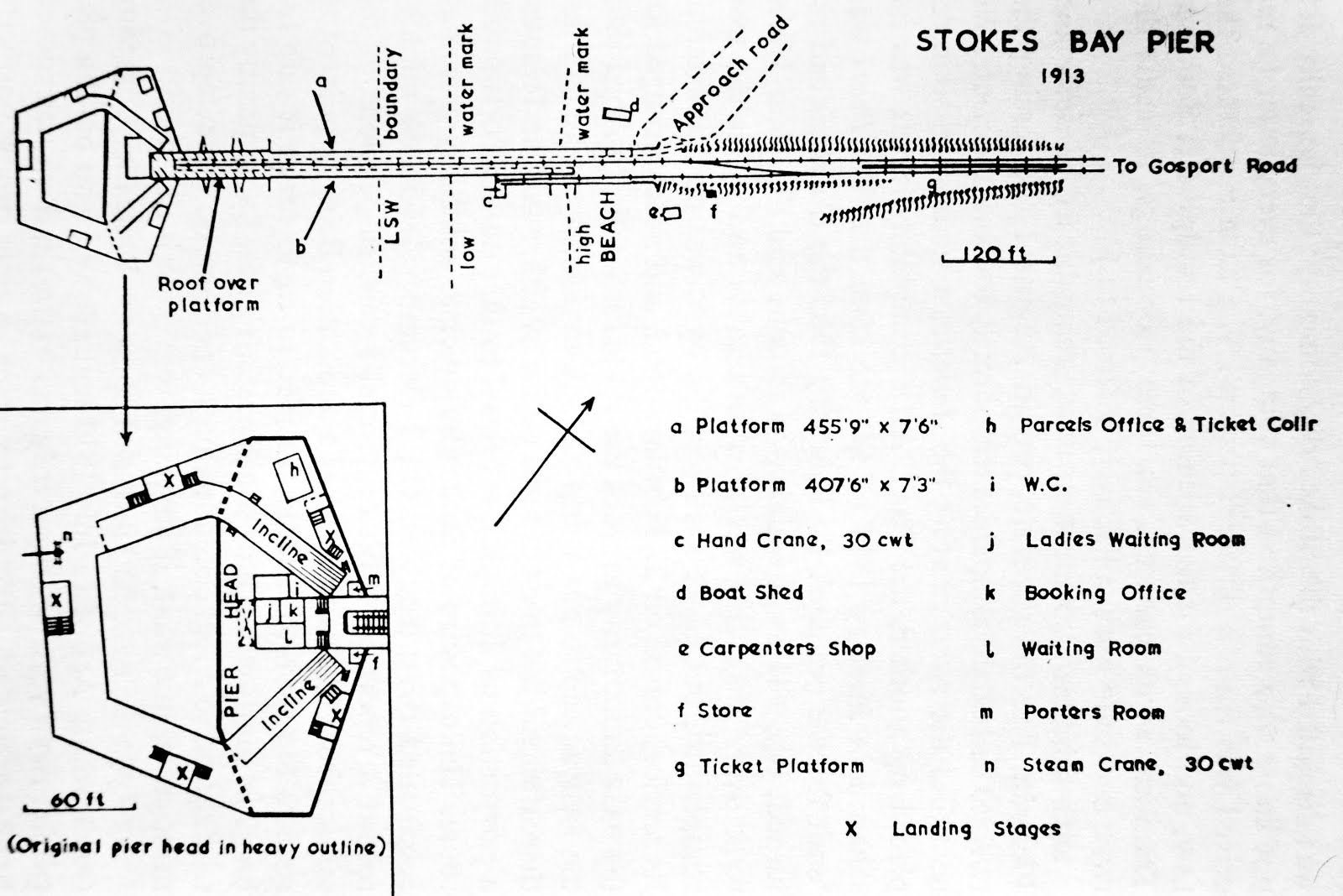 Plan of Stokes Bay Pier
