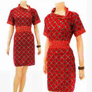 DB3259 Model Baju Dress Batik Modern Terbaru 2013
