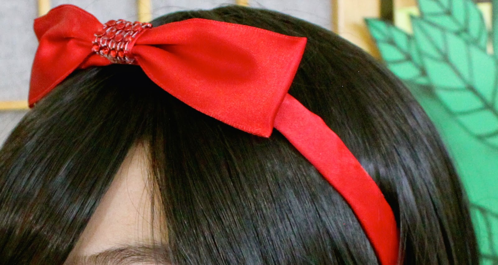 Snow white diy poison apple red bow for Black headbands dollar tree