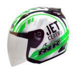 Helm INK Centro Jet Seri 7 Putih Hijau