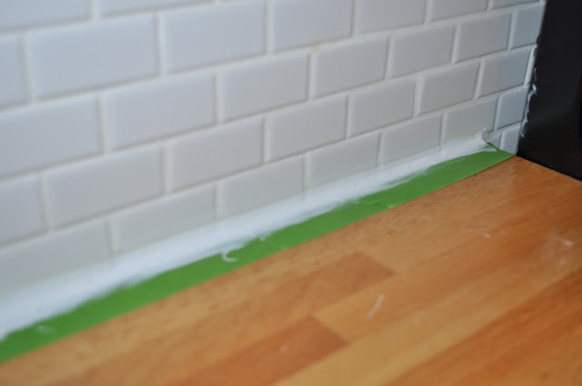 caulking counters, tile, kitchen, caulk, LOCTITE