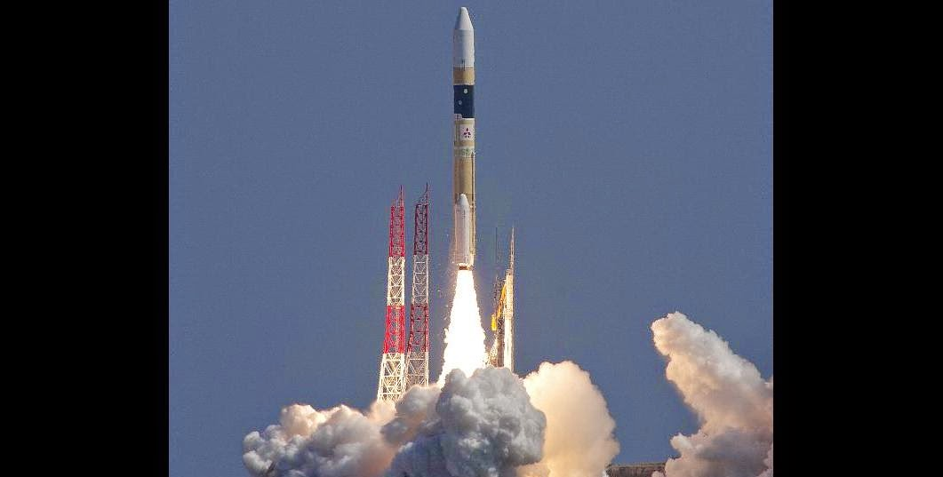 Japan launches IGS Optical 5 intelligence satellite on Mar. 26, 2015. Credit: JAXA