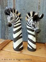 Zebror med hästtagel