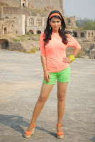 Actress Sharmila Mandre Latest Picture Gallery in Green Shorts 0007.JPG