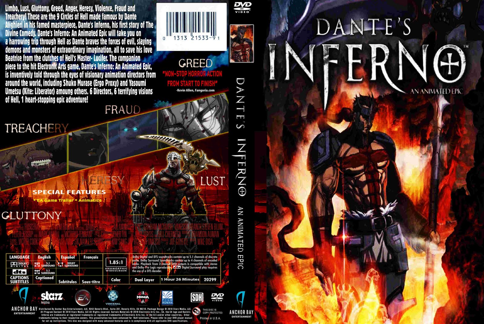 dante's inferno an animated epic Watch video title: dante's inferno: an animated epic (video 2010) 66 /10 want to share imdb's rating on your own site use the html below.