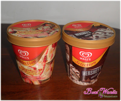 Sedapnya Ais Krim Wall's Cheesecake & Hershey's. Review Tak Berbayar. Ice Cream Wall Selection Hershey's Dan Strawberry Cheese Cake.
