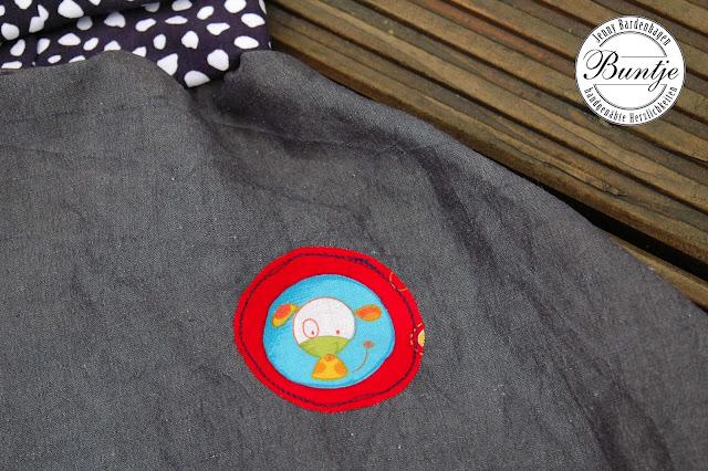 Pumphose Sarouelhose Kinderhose Jeans Taschen blau rot Bündchen Mitwachsen Mädchen Junge 80 86