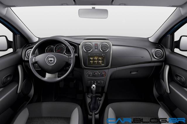 Renault Sandero 2014 - interior do Dácia Sandero