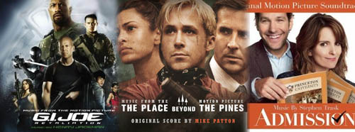 Soundtracks for G.I. Joe: Retaliation, The Place Beyond the Pines, Admission