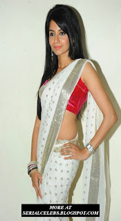 Amrutha in low hip saree