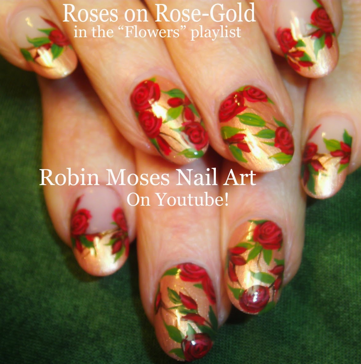 Robin Moses Nail Art Designs: DIY Nail Tutorial On Rose Gold