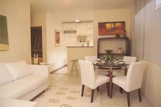 Decorando meu 1 ap mesa de jantar e sof for Mesas para apartamentos pequenos