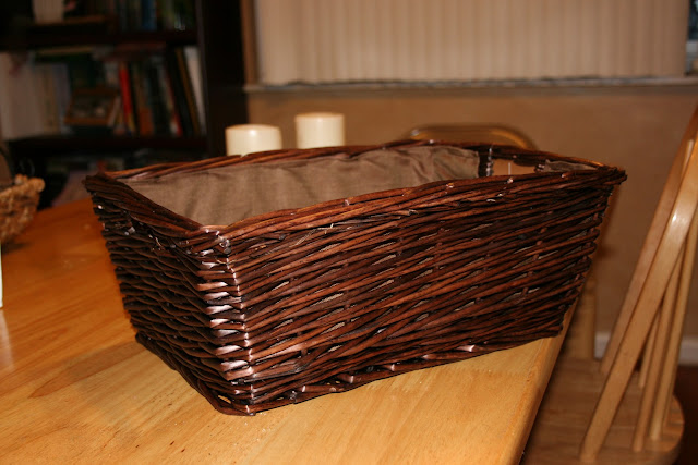 Inbox wicker basket mail desk