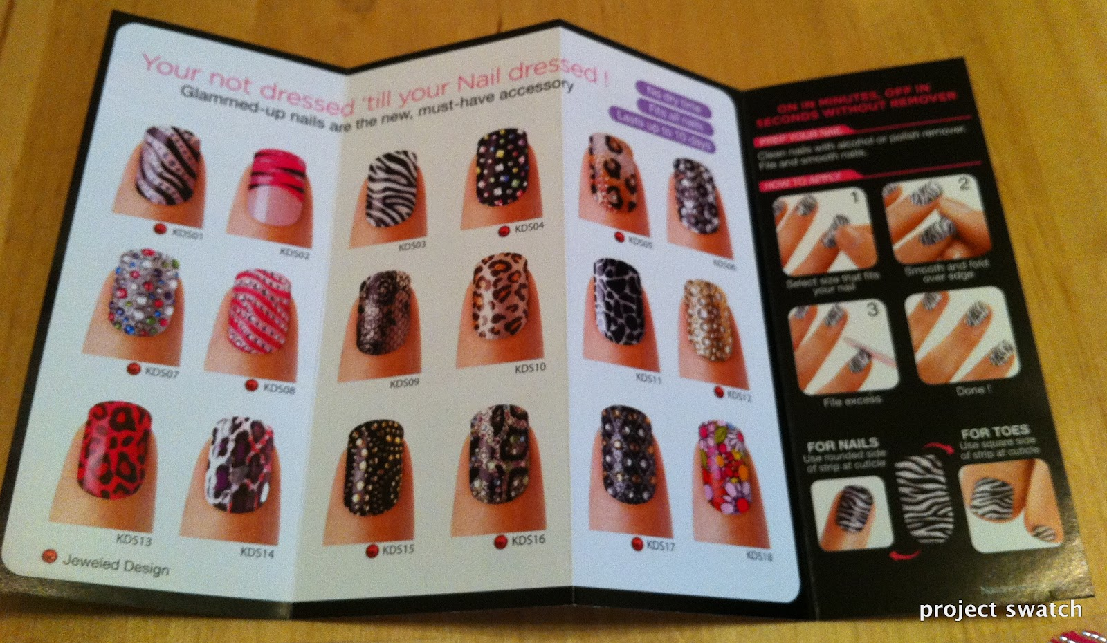 Kiss Nail Dress Stickers Review and Photos - Project Swatch