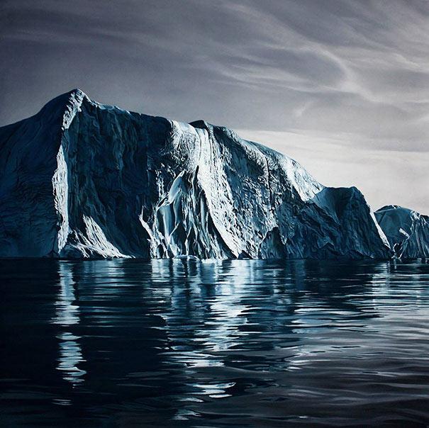 Artista utiliza sus dedos para crear imágenes fotorrealistas que crean conciencia sobre el Cambio Climático