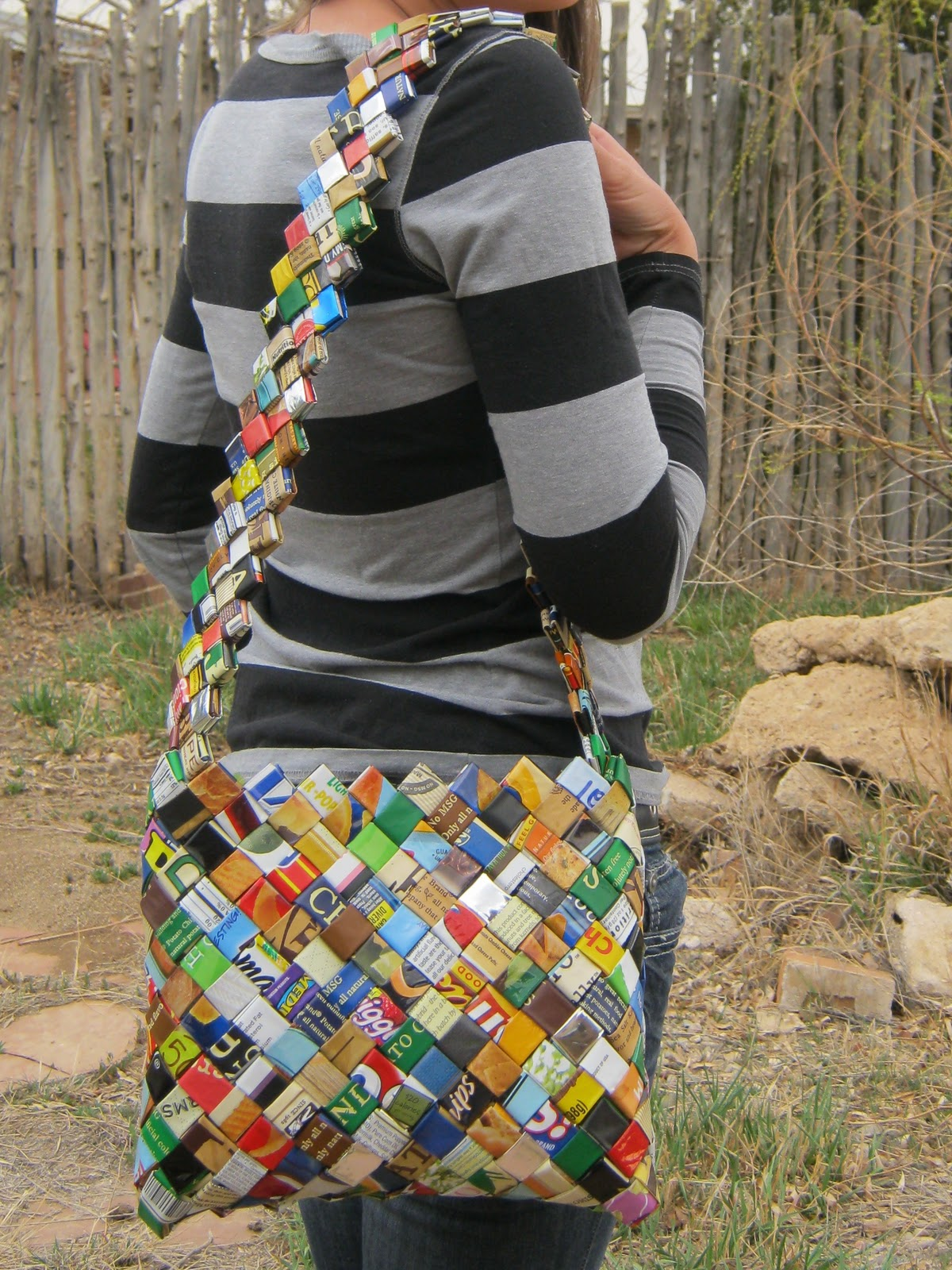 Make something 365 get unstuck recycle girl - Recycled can art projects ...