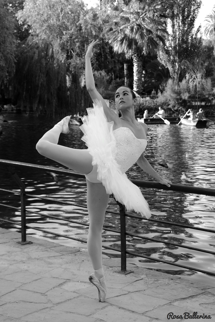 fotografía de ballet en exteriores