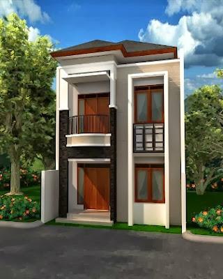 desain rumah mungil 2 lantai inspiratif   desain rumah