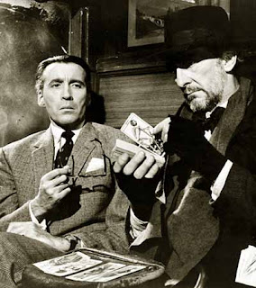 Lee e Cushing in 'Dr. Terror's House of Horrors', 1965
