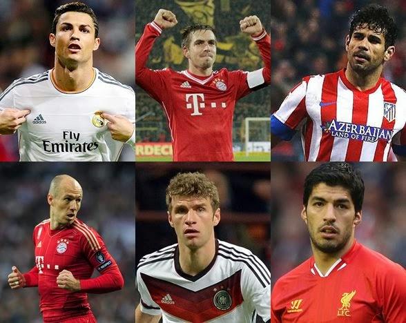 Daftar 100 Pemain Terbaik Eropa 2014