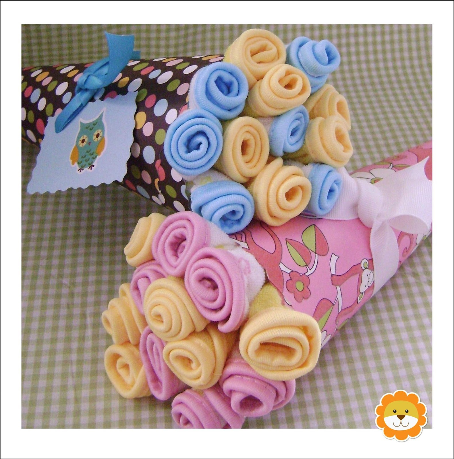 onesie or burp cloth bouquet nice way to present your gift source