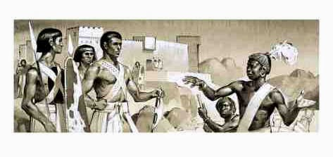 Negro soldiers fighting for the Hyksos