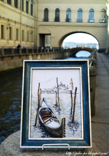 Марья Искусница 02.008.02 Гондола, вышивка крестом, Венеция, Италия