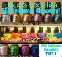 Giveaway: 500 Followers Part 1