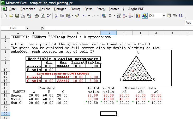 Menentukan rumus kimia mineral dan mengeplot ke diagram ternary link 2 excel template for ternary diagram excel ccuart Choice Image