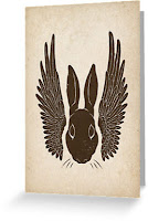 winged rabbit gift card