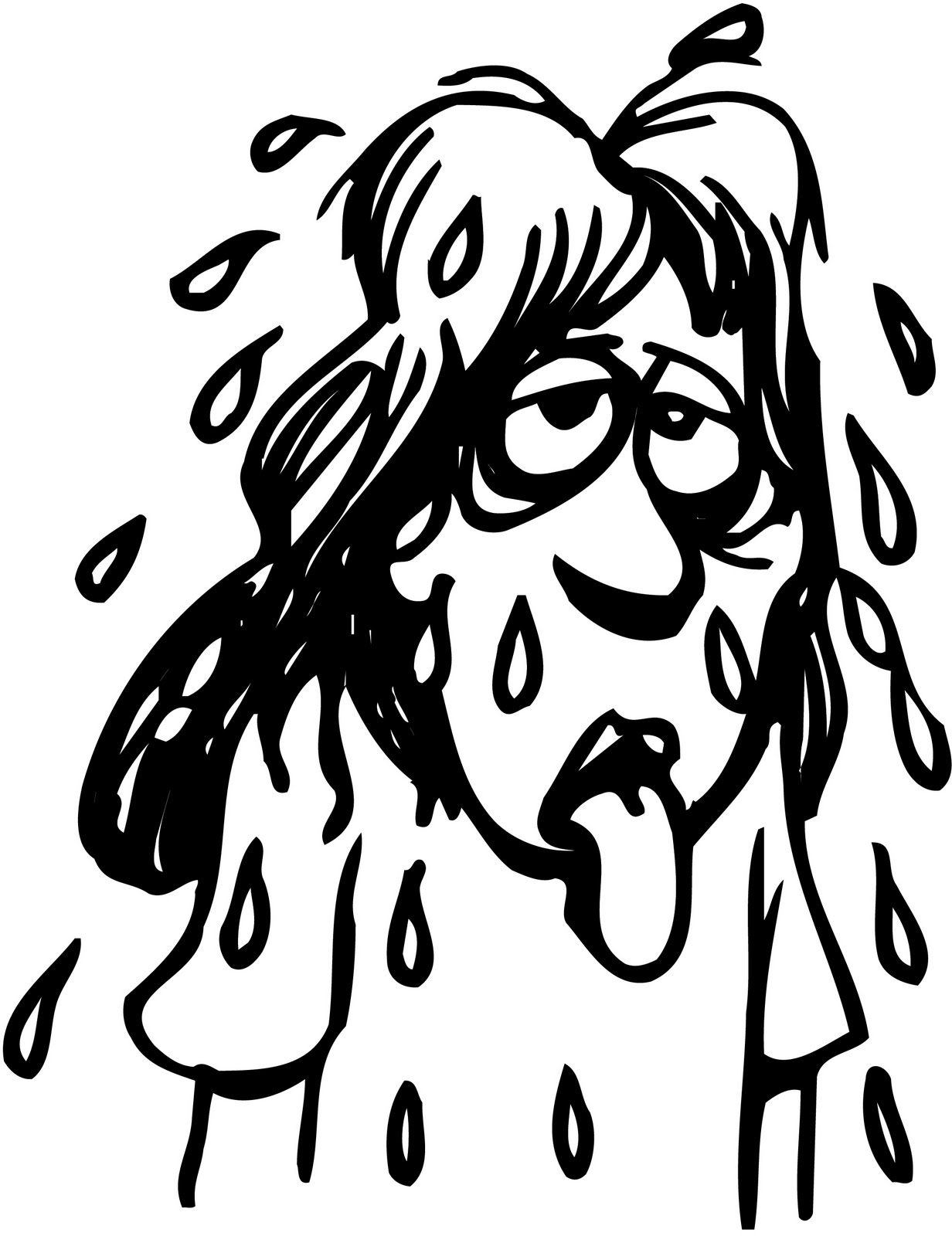 Displaying 11> Images For - Sweaty People Clipart... H20 Delirious Face