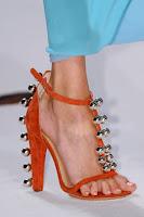 Сандали на висок ток от велур с метални топчета на Diane von Furstenberg