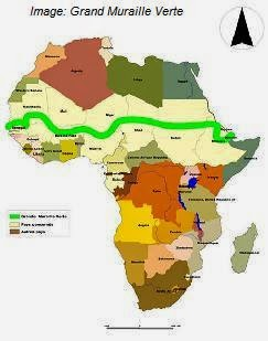 This large man made forest with millions of trees planted will stop the march of the african desert