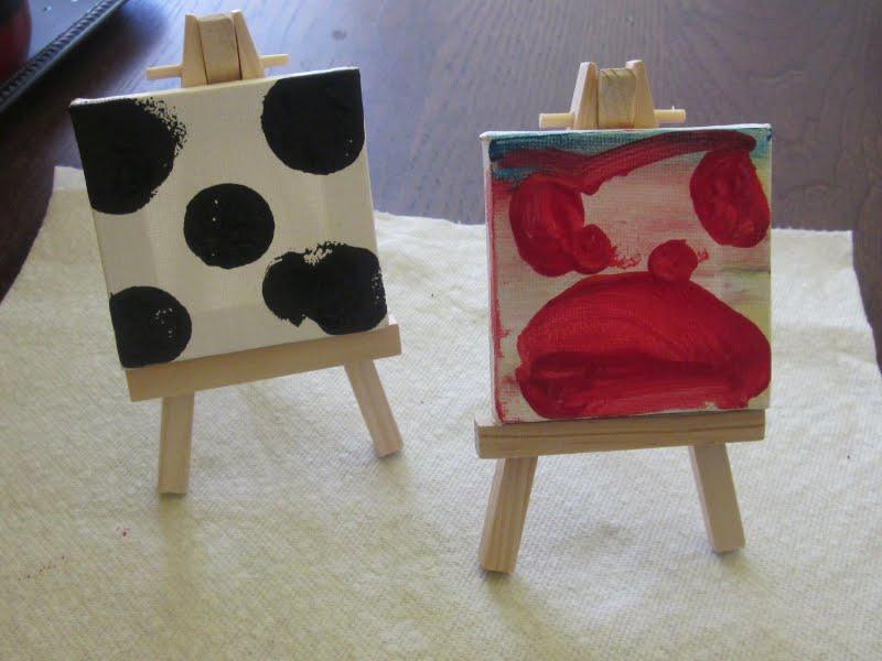 homespun with love kids craft mini easel art. Black Bedroom Furniture Sets. Home Design Ideas