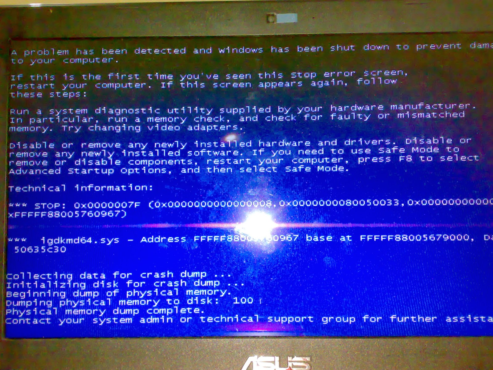 Kenapa muncul Blue Screen pada windows
