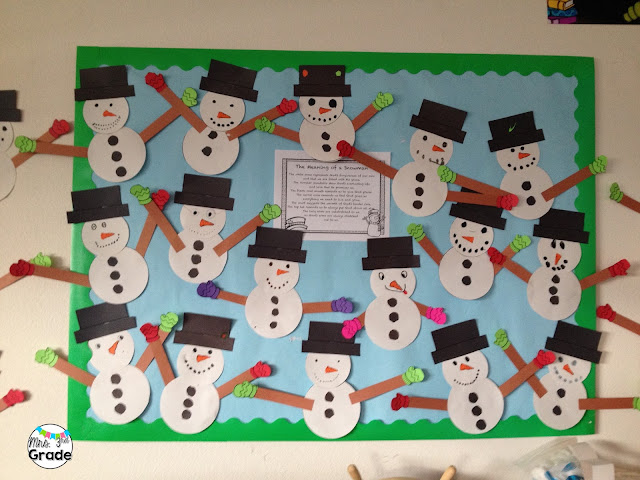 A classroom full of snowmen, where each one is different from the others!  Love their individual personalities come out too!