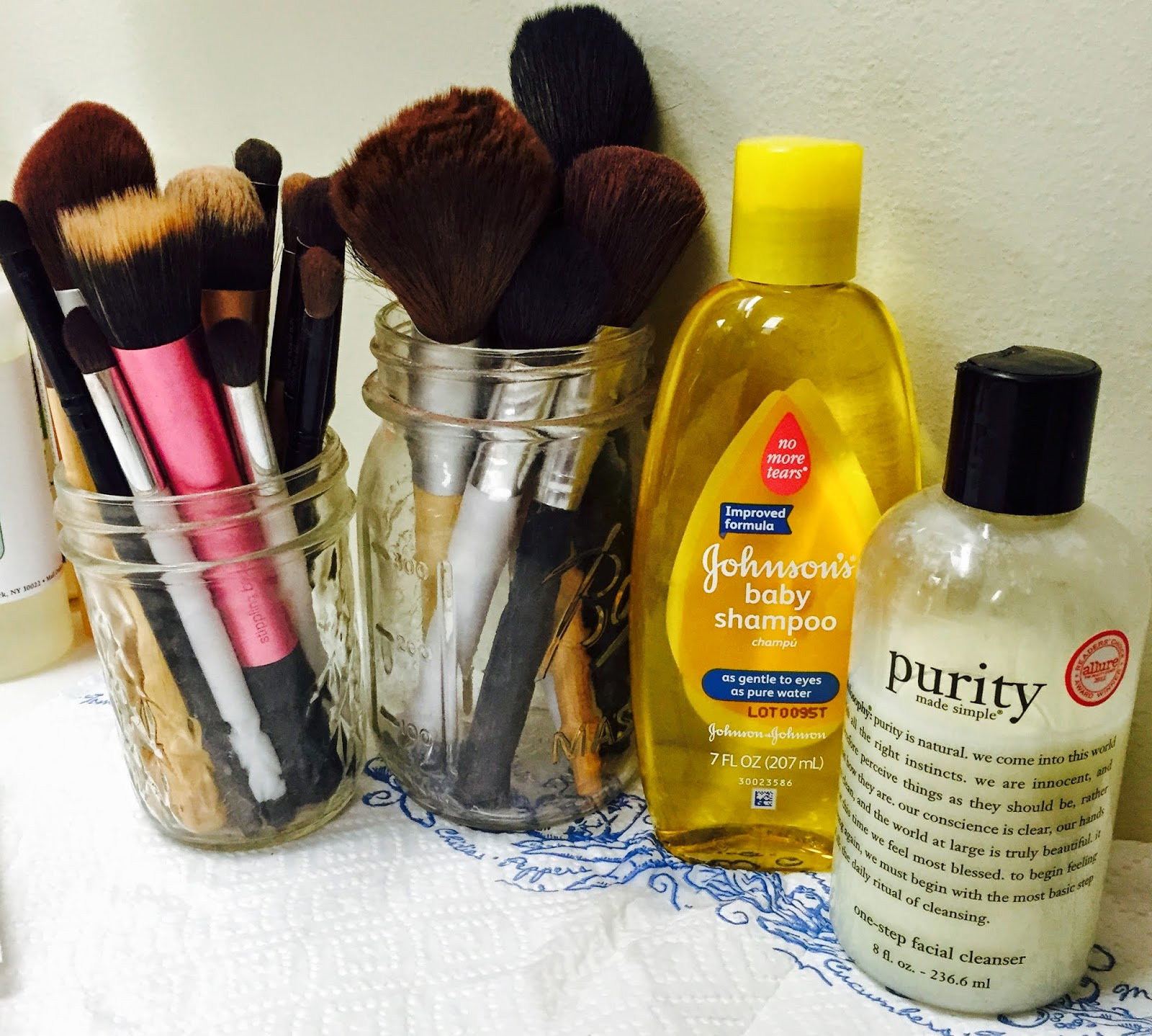 How I Clean My Makeup Brushes: