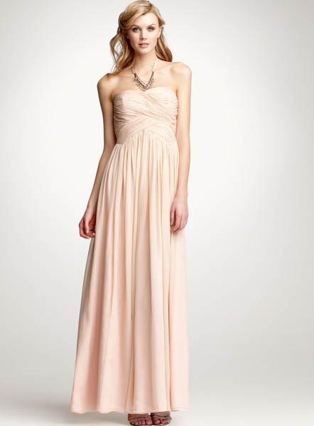 Bridesmaid dresses elegant full length chiffon bridesmaid for Silk georgette wedding dress