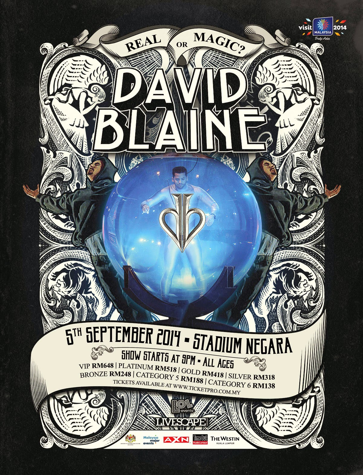 David Blaine Real Or Magic Tour 2014